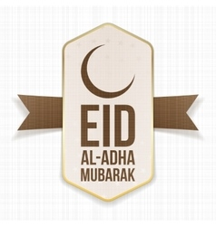 Eid al-adha mubarak festive label vector