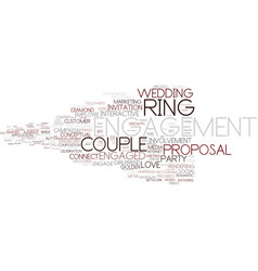 Engagement word cloud concept vector