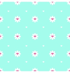 flat minimalistic camomile seamless pattern vector image vector image