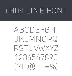 Font thin lines vector image vector image