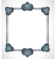 Frame with abstract shapes vector