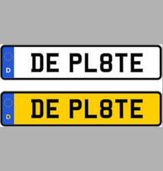 Germany number plate vector