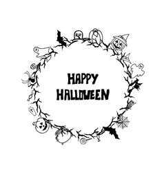 Happy halloween vintage card templates vector image vector image