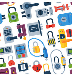 House door-lock access equipment web safety conept vector