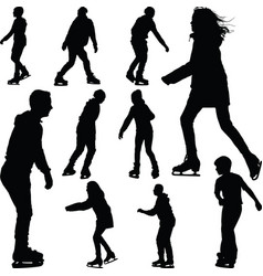 ice skate silhouette vector image vector image