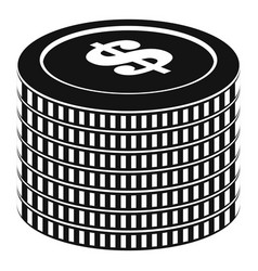 investment coin icon simple black style vector image vector image
