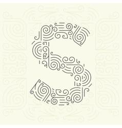 Letter S Golden Monogram Design element vector image vector image