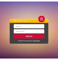 Login user interface sign in web element template vector