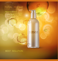 moisturizing serum ads poster template vector image vector image