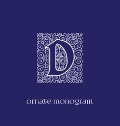 Monogram d vector