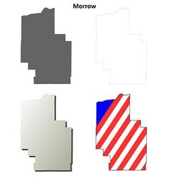 Morrow map icon set vector