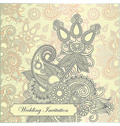 ornate frame wedding invitation vector image vector image