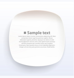 plate on a white background vector image vector image