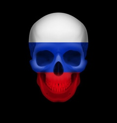 Russian flag skull vector