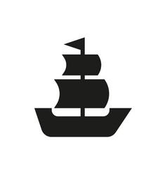 sailing ship icon on white background vector image