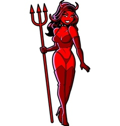 Sexy devil girl vector
