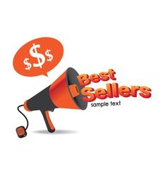 Sign best sellers megaphone vector