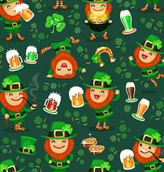 st patricks days pattern vector image