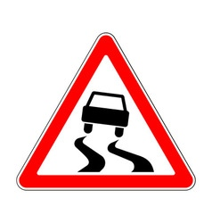 Traffic-road sign vector image vector image