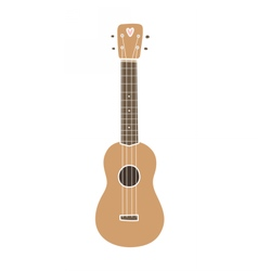 Ukulele hawaiian guitar isolated on white vector