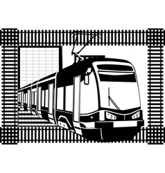 urban electric vector image vector image