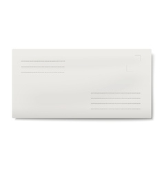 White dl envelope isolated vector