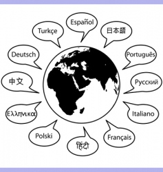 world language vector image