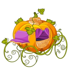 Pumpkin Turn into a Carriage for Cinderella vector image