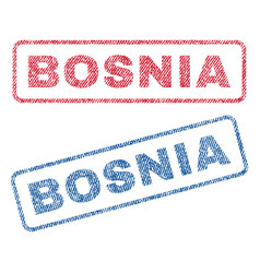 Bosnia textile stamps vector