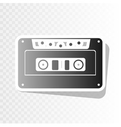 Cassette icon audio tape sign  new year vector