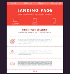 Landing page template website design vector