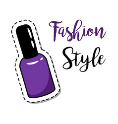 Fashion patch element nail polish vector