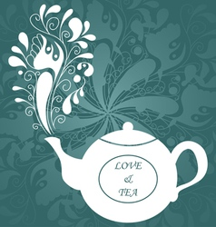 Love and tea vector