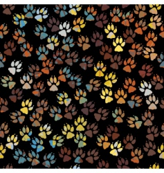 dog paw prints vector image