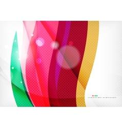 Purple rainbow swirl background vector