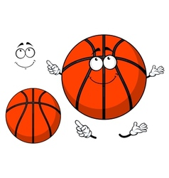 Smiling cartoon basketball ball with a cute grin vector