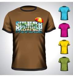 T-shirt set with summer holiday vector