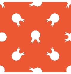 Orange certificate seal pattern vector