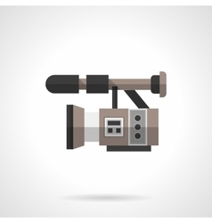 Filming equipment flat color design icon vector