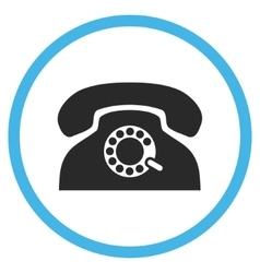 Pulse phone flat rounded icon vector