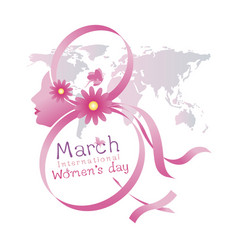 8 march international womens day design vector