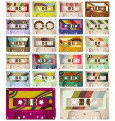 vintage cassettes vector image
