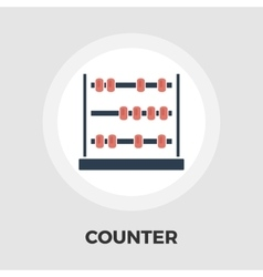 Abacus flat icon vector