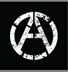 Anarchy atheism socialist logo - logotype vector