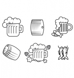 beer and alcohol symbols vector image vector image