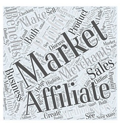 Benefits of affiliate marketing word cloud concept vector