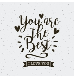 Card of i love you design vector