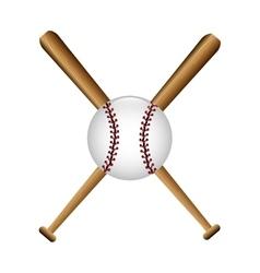 Cartoon bat baseball icons vector