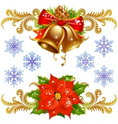 Christmas design elements set vector image vector image