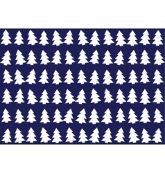Christmas trees pattern background vector image vector image